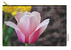 Carry-all Pouch featuring the mixed media Bloomin' by Trish Tritz