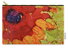 Blooming Cactus Carry-all Pouch by Cynthia Powell