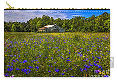 Blooming Country Meadow Carry-all Pouch by Marvin Spates