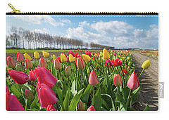Carry-all Pouch featuring the photograph Blooming Holland Tulips by Hans Engbers