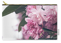 Blooming Pink Carry-all Pouch by Rebecca Davis
