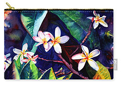 Blooming Plumeria Carry-all Pouch