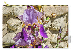 Carry-all Pouch featuring the photograph Blooming Purple Iris by Sue Smith