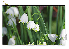 Blooming Snow Drop Lily Flowers In The Wild Carry-all Pouch