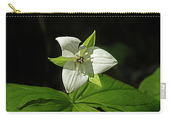 Carry-all Pouch featuring the photograph Blooming Trillium by Mike Eingle