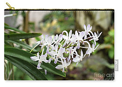 Blooming White Flower Spike Carry-all Pouch
