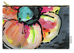 Carry-all Pouch featuring the mixed media Blooming Wildflower- Art By Linda Woods by Linda Woods