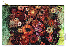 Blooms And Black Onyx Carry-all Pouch