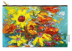 Colorful Wildflowers, Abstract Floral Art  Carry-all Pouch
