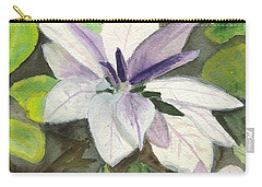Carry-all Pouch featuring the painting Blossom At Sundy House by Donna Walsh