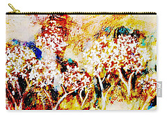 Carry-all Pouch featuring the painting Blossom Morning by Winsome Gunning