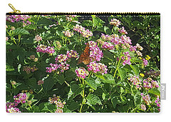 Blossoms And Wings #2 Carry-all Pouch by Rachel Hannah