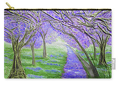 Carry-all Pouch featuring the mixed media Blossoms by Angela Stout