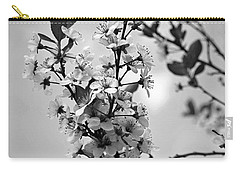 Blossoms In Black And White Carry-all Pouch by Sue Stefanowicz
