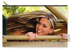 Blowing Hair Carry-all Pouch by Bob Pardue