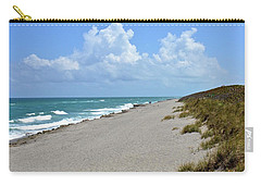 Carry-all Pouch featuring the photograph Blowing Rocks Preserve Beach by Carol Bradley