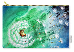 Carry-all Pouch featuring the painting Blown Away by Maria Barry