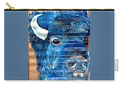 Blu Bison Carry-all Pouch by Patty Sjolin