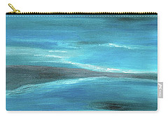 Blue Abstract Art In The Middle Of The Ocean Carry-all Pouch