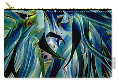 Blue Abstract Art Lorx Carry-all Pouch