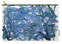 Carry-all Pouch featuring the painting Blue Abstract by Megan Dirsa-DuBois