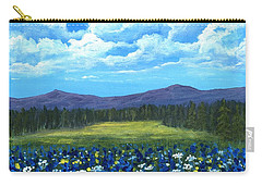Carry-all Pouch featuring the painting Blue Afternoon by Anastasiya Malakhova