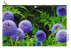 Blue Allium Flowers Carry-all Pouch