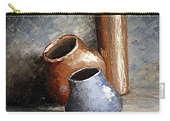 Blue And Brown Pots Carry-all Pouch