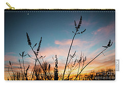 Blue And Gold Sunset Carry-all Pouch