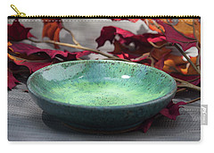 Blue And Green Shallow Bowl Carry-all Pouch