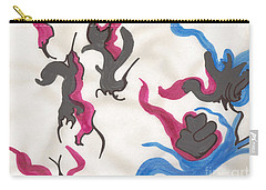 Blue And Pink  Swirls Carry-all Pouch