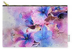 Blue And Purple Flowers Carry-all Pouch