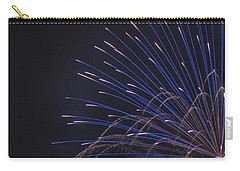 Blue And Silver Display Detail Carry-all Pouch by Chris Thomas