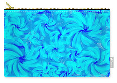 Blue And Turquoise 2 Carry-all Pouch by Linda Velasquez