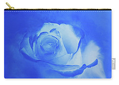 Blue And White Arising Carry-all Pouch