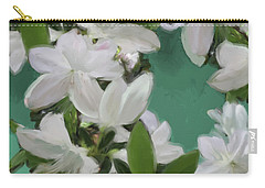 Blue And White Flower Art 2 Carry-all Pouch