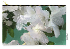 Blue And White Flower Art 3 Carry-all Pouch