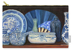 Blue And White Porcelain Ware Carry-all Pouch by Marlene Book