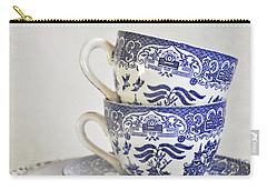 Blue And White Stacked China. Carry-all Pouch