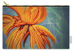 Carry-all Pouch featuring the digital art Blue And Yellow #h6 by Leif Sohlman