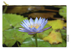 Blue And Yellow Water Lily Carry-all Pouch