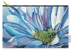 Carry-all Pouch featuring the painting Blue by Angela Armano
