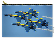 Carry-all Pouch featuring the photograph Blue Angels Diamond Formation by Adam Romanowicz