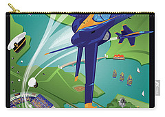 Blue Angels Over Annapolis Usna Carry-all Pouch