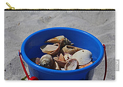 Carry-all Pouch featuring the photograph Blue Beach Bucket by Michiale Schneider