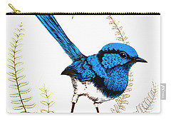 Carry-all Pouch featuring the photograph Blue Bird 001 by Kevin Chippindall