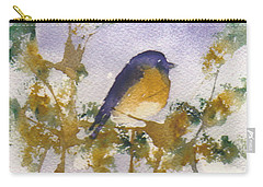 Blue Bird In Waiting Carry-all Pouch