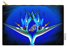 Carry-all Pouch featuring the photograph Blue Bird Of Paradise by Joyce Dickens