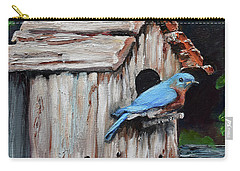 Blue Bird On Lake Odom Carry-all Pouch by Jan Dappen