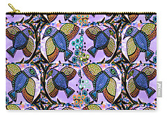 Blue Birds Carry-all Pouch by Sandra Silberzweig